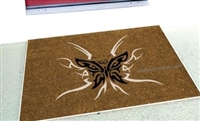 Tribal Butterflies Custom Doormat by Killer Doormats