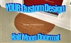 Your Personalized Custom Doormat Half Moon- Your design idea/image by Killer Doormats