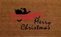 Merry Christmas V8 Santa Custom Doormat by Killer Doormats