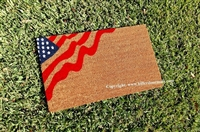 Wavy American Flag Custom Doormat by Killer Doormats