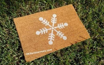 Winter Snowflake Custom Doormat by Killer Doormats