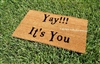 Yay! It's You Custom Handpainted Funny Welcome Doormat by Killer Doormats