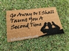 Go Away Taunt Monty Python Doormat by Killer Doormats