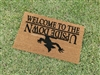 Stranger Fandom Welcome to the Upside Down Custom Hand Painted Welcome Door Mat by Killer Doormats