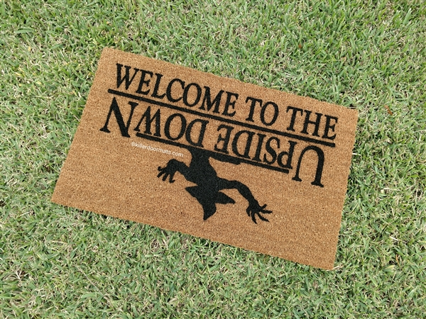Stranger Fandom Welcome to the Upside Down Custom Hand Painted Welcome Door Mat by Killer Doormats & Stranger Fandom Welcome to the Upside Down Custom Hand Painted ...