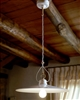 Tesa White Ceramic Interior Pendant by Aldo Bernardi