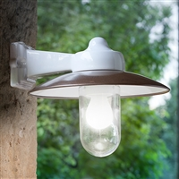 Merano Indoor/Outdoor Brass and Ceramic Sconce Light by Aldo Bernardi