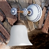 Caracoi Ceramic and Brass Interior Sconce by Aldo Bernardi