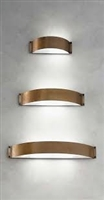 FASCIA2 Fashion Aged Brass Interior/Exterior Sconce by Aldo Bernardi