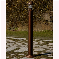 LAR.194/120/A Attila Aged Brass Path and Garden Light by Aldo Bernardi