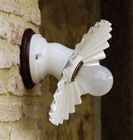 LAR.97.00/22 Cappe Ceramic Interior Wall Mount With Pleated Shade by Aldo Bernardi