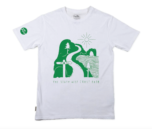 Men's organic cotton illustration t-shirt - Green