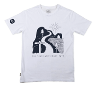 Men's organic cotton illustration t-shirt - Navy