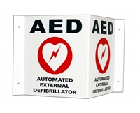 Cardiac 168-6002-001 AED Wall Sign/ Door Decal 3D