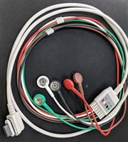CareFusion 2008594-001 SEER Light Holter Patient Cable/ Leadwires 2 Channel 5-Lead AHA