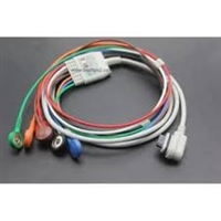 CareFusion 2008594-002 SEER Light Holter Patient Cable/ Leadwires 3 Channel 7-Lead AHA