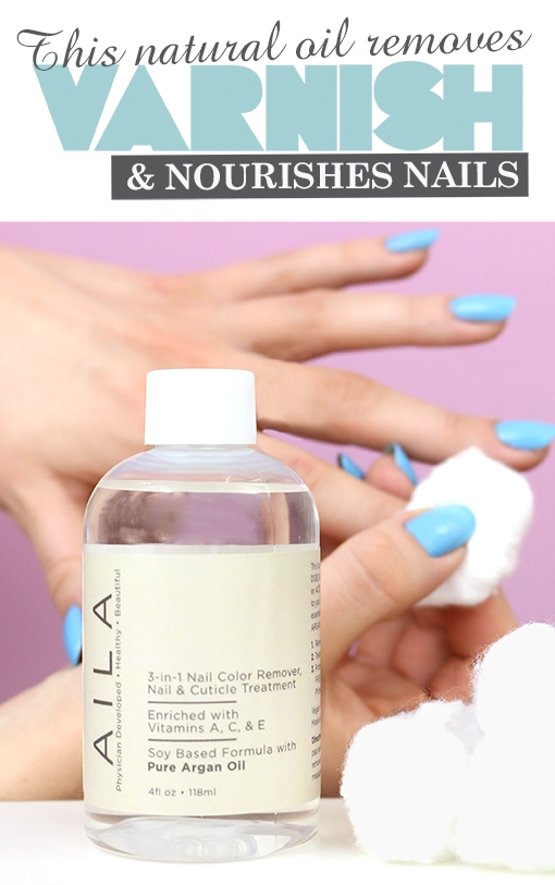 Aila Nail Remover with Pure Argan, Beauty and the Boutique