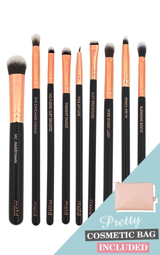 45e8bf54d8f MOTD Lux Vegan Eye Makeup Brush Set, Beauty and the Boutique