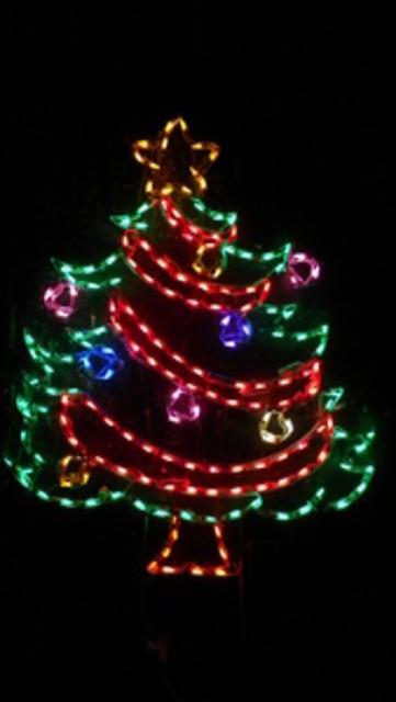 Garland Christmas Tree LED Lights Yard Art