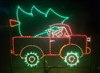 Elf in Truck with Christmas Tree - Animated