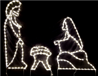 3 Piece Nativity Medium with Warm White LED Lights