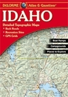 Idaho Gazetteer, points of interest, landmarks, state and national parks, campgrounds, boat launches, golf courses, historic sites, hunting zones, canoe trips, scenic drive recommendations elevation contours, highways and roads, dirt roads, trails