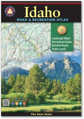 Idaho Road & Recreation Atlas, Camping, Cabins, RV, Fishing spots and available species, Hunting regions and units