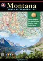 Montana Road & Recreation Atlas, Montana Atlas, Benchmark Atlas, hunting, hiking, recreation atlas
