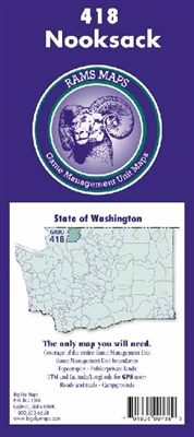 Nooksack GMU Map, Hunting unit maps, WA Game Management Unit Maps