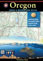 Oregon Road & Recreation Atlas, Benchmark Atlas, Benchmark, Recreation Atlas, Oregon, hiking, hunting, recreation, Camping, Cabins, RV, Fishing spots and available species, Hunting regions and units