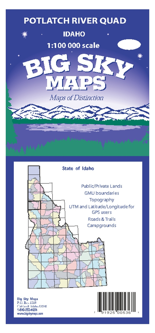 Potlatch Idaho Map.Potlatch River Quadrangle Map