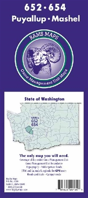 Puyallup GMU Map, Mashel GMU Map, Hunting unit maps, WA Game Management Unit Maps