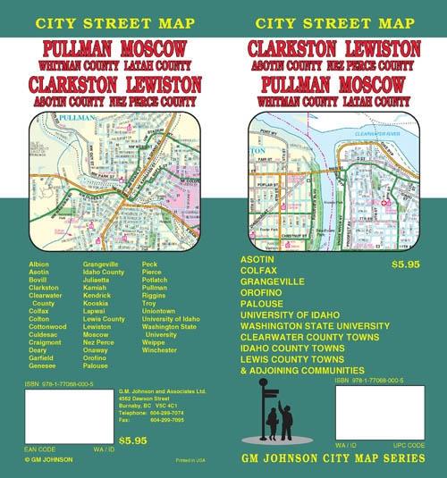 Kendrick Idaho Map.Clarkston Lewiston City Street Map