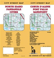COEUR D' ALENE / POST FALLS / SANDPOINT CITY STREET MAP