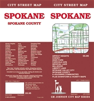 SPOKANE CITY STREET MAP