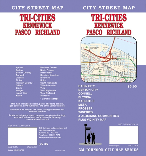 Tri Cities Kennewick Pasco Richland City Street Map