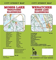 WENATCHEE / MOSES LAKE / ELLENSBURG CITY STREET MAP