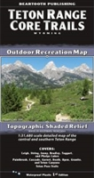 Teton Range Core Trails Outdoor Recreation Map