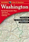 Washington Gazetteer, points of interest, landmarks, state and national parks, campgrounds, boat launches, golf courses, historic sites, hunting zones, canoe trips, scenic drive recommendations elevation contours, highways, roads, dirt roads, trails