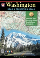 Washington Road & Recreation Atlas, Benchmark Atlas, Washington Atlas, Recreation Atlas, hiking, hunting, recreation, Camping, Cabins, RV, Fishing spots and available species, Hunting regions and units