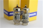 NOS 1960 AMPEREX 6922 P.Q. E88CC USA GOLDPIN MATCHED PAIR TUBES AMPLITREX TESTED