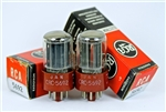 World's Best NOS JAN CRC-5692/6SN7 RCA 1950's MILITARY Red Base Dual Triode Perfect Matched Pair