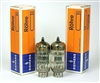 NOS Mullard Siemens A2900 CV6091 6201 12AT7 TUBES 1963 BLACKBURN UK MATCHED PAIR