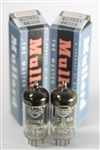 PRIVATE-STOCK NOS 1958 MULLARD BLACKBURN ECC82 12AU7 LONG-PLATE GOAL-POST GETTER MATCHED PAIR