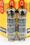 NOS PHILIPS MINIWATT EL84 6BQ5 MATCHED PAIR
