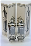 PRIVATE-STOCK Telefunken ECC82 12AU7 low-noise perfect pair 1960's BERLIN SMOOTH-PLATES
