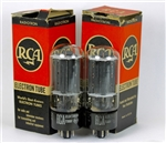 1960 RCA 6L6GC HOLY-GRAIL MATCHED PAIR DUAL SQUARE-GETTERS