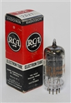 "RCA 12AX7 LONG-BLACK-PLATE ""D-GETTER"" TUBE MATCHED-TRIODE AMPLITREX TESTED"