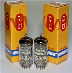 "Phenomenal Valvo or Siemens Halske ECC83 12AX7 ""LONG PLATES"" 1950's ""D-FOIL-GETTER"" NOS SINGLE TUBE OR PAIR!"