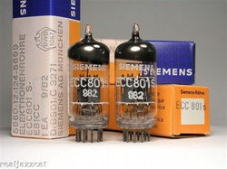 NOS SIEMENS ECC801S 12AT7 ECC81 THE BEST MATCHED PAIRS